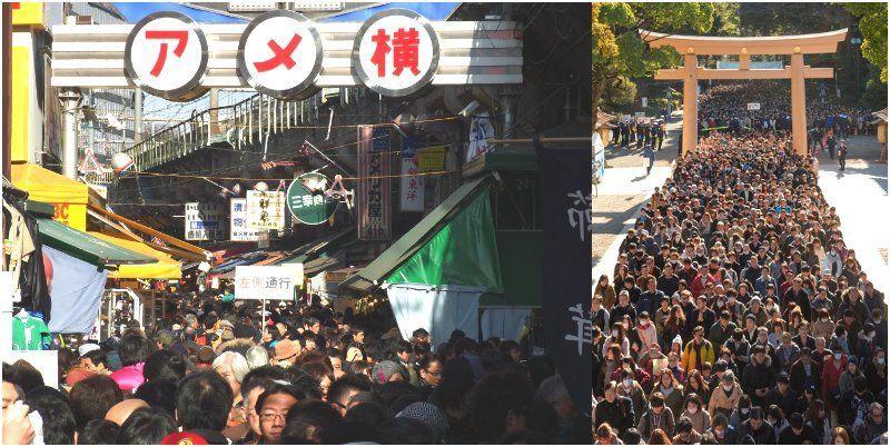 New Year Ueno Ameyoko Hatsumode
