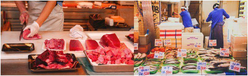Tsukiji Fish Market Japan Tokyo