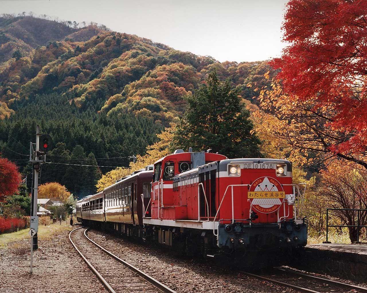 Watarase Keikoku Railway Japan