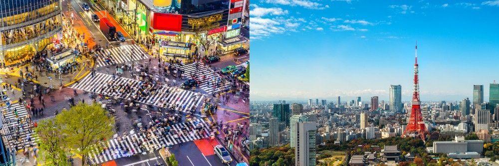 Japan City center of Tokyo