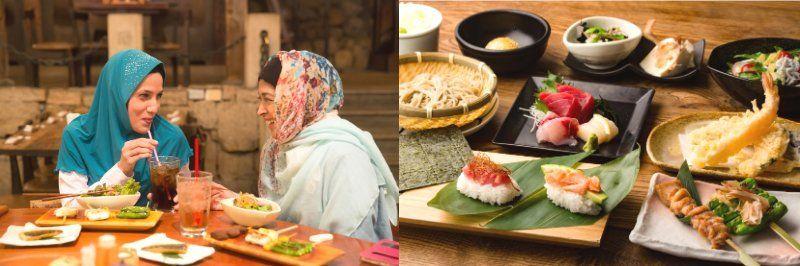 "The Japanese restaurant ""Gonpachi"" Halal food"