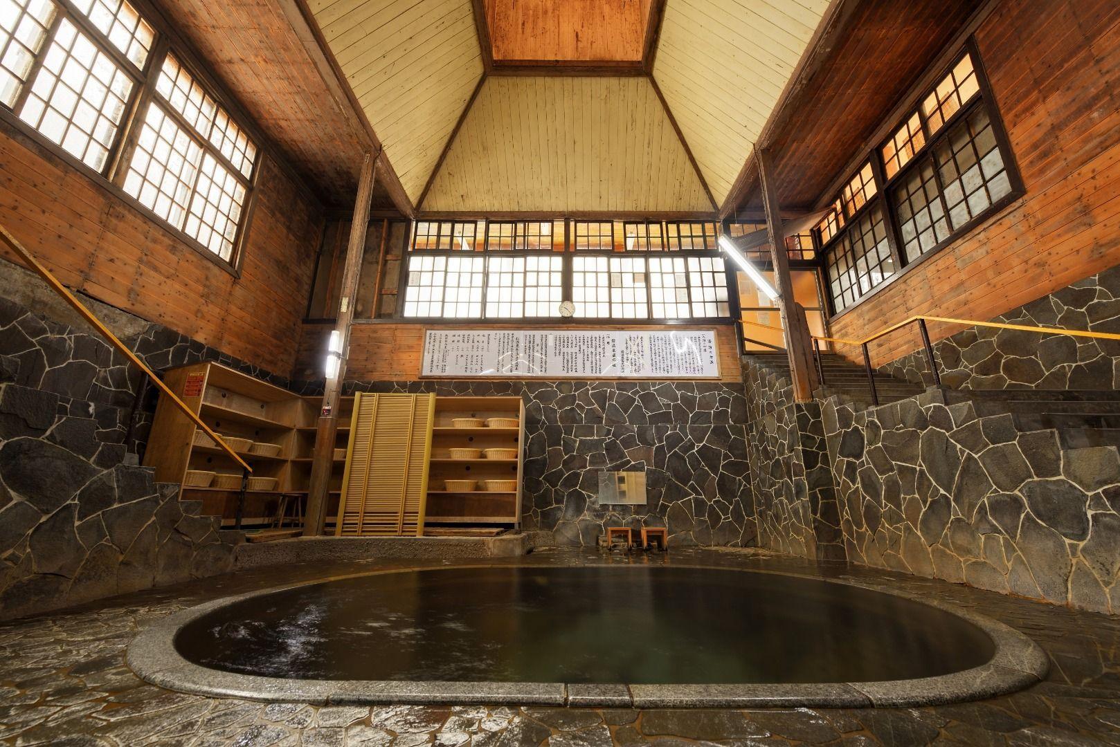 """Shirozaru-no-yu (literally means """"White Monkey Bath"""")"""