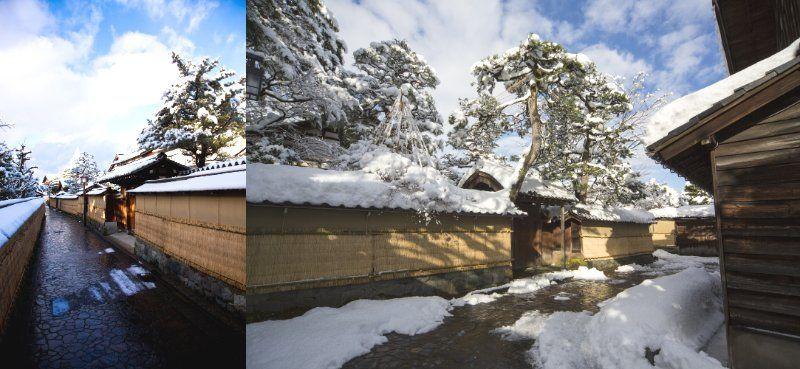 The streets where Bukeyashiki (Samurai residences)