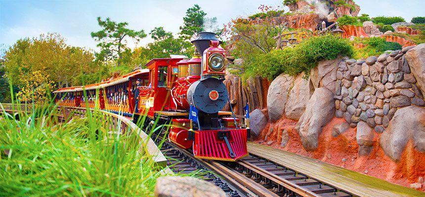 Japn Tokyo Disneyland Western River Railroad
