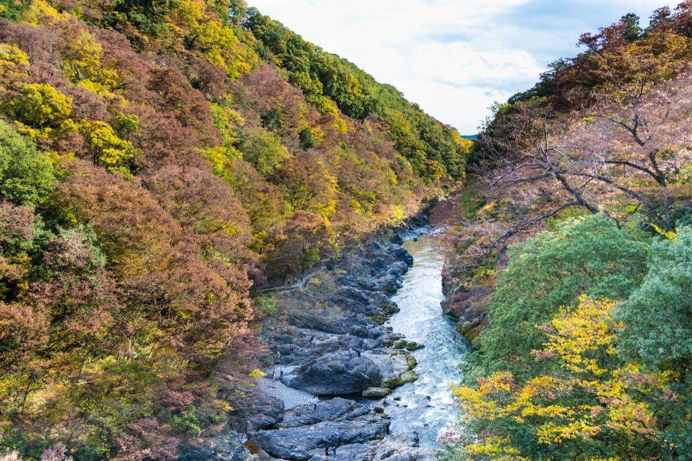 Japan Watarase Keikoku Takatsudo Gorge