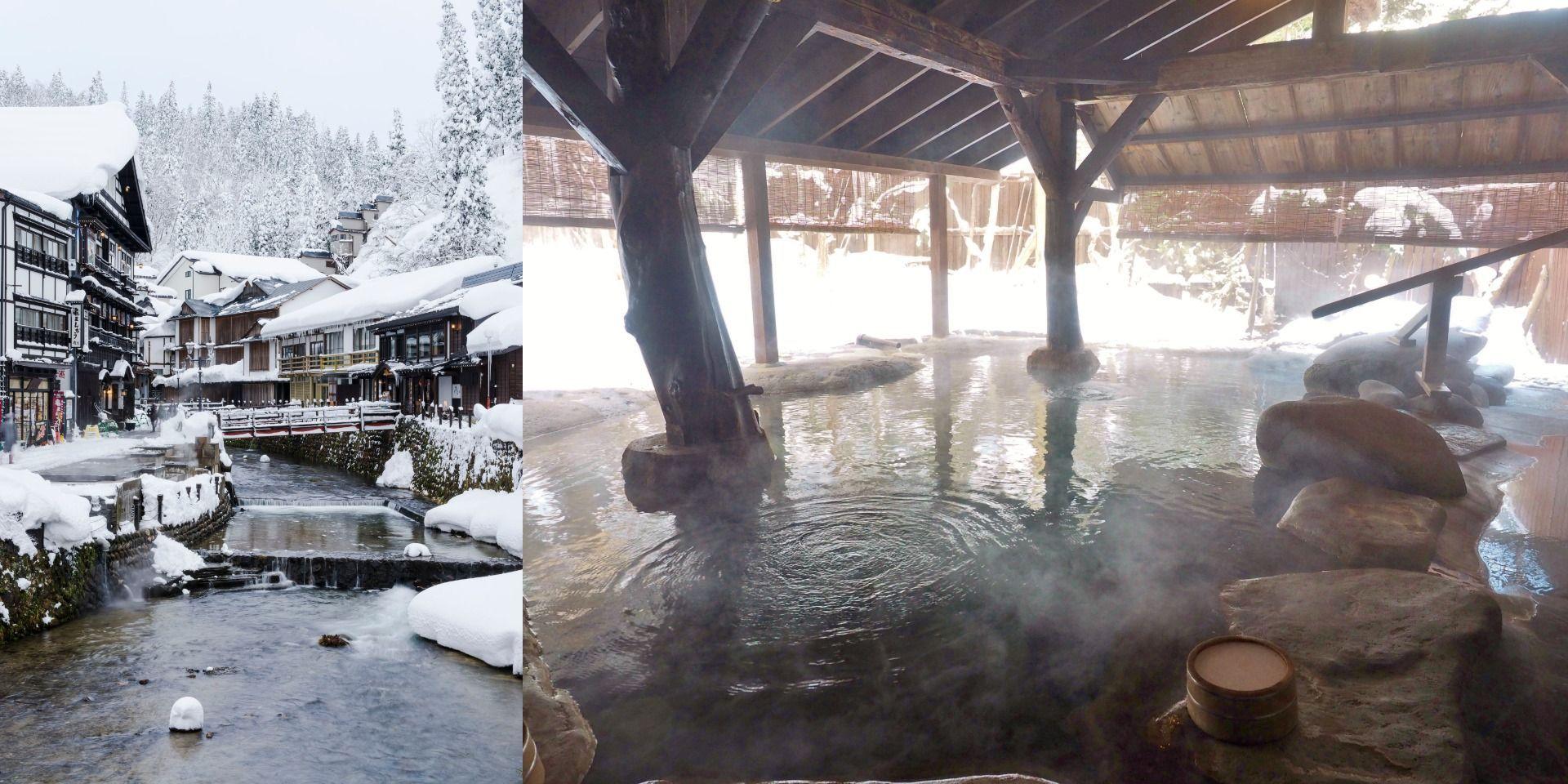 Japan Onsen (hot spring) 露天風呂